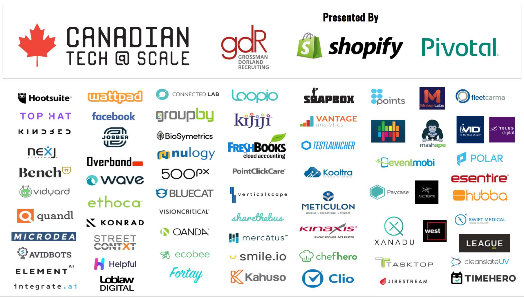 Companies at #cdnTECHatSCALE 2017